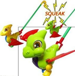24 Units of Push and Pull Dinosaur Toy - Light Up Toys