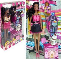 6 Units of 12 Piece Ethinic Jada Beautiful Pet Boutique Sets - Dolls