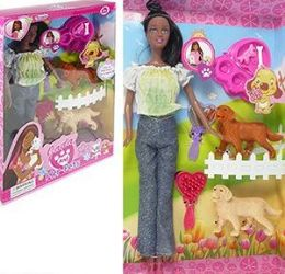 8 Units of 12 Piece Ethnic Jada and Her Pets Play Sets - Dolls