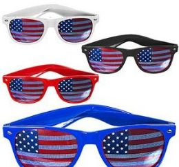 72 Units of American Flag Sunglasses - Seasonal Items
