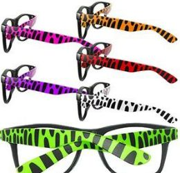 144 Units of Animal Print Lensless Glasses - Reading Glasses