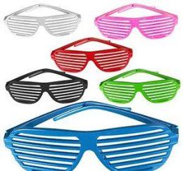 144 Units of Shutter Shade Lensless Glasses - Novelty & Party Sunglasses