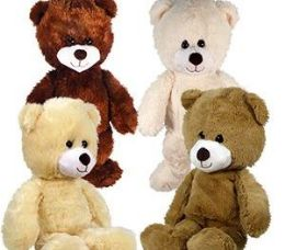 12 Units of Plush Natural Bears - Plush Toys
