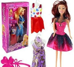 12 Units of 5 Piece Vogue Girls Fashion Doll Sets - Dolls