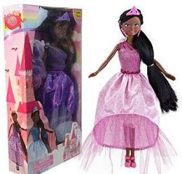 12 Units of Ethnic 6 Piece Princess Doll Play Sets - Dolls