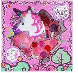 12 Units of 3 Tier Unicorn Jungle Party Makeup Sets - Girls Toys