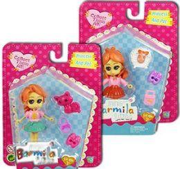 40 Units of 4 Piece Barmila Princess & Pet Mini Doll Sets - Dolls