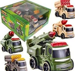 9 Units of 5 Piece Friction Powered Convoy Military Squad Vehicle Sets - Cars, Planes, Trains & Bikes