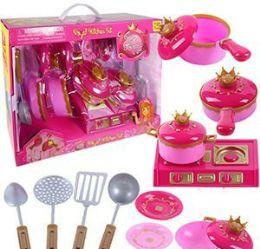 6 Units of 15 Piece Royal Kitchen Sets - Girls Toys