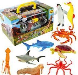 6 Units of 9 Piece Vinyl Wild Kingdom Animal Sets - Animals & Reptiles