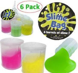 16 Units of 6 Pack Barrels of Slime Assorted Colors - Slime & Squishees