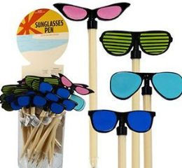 48 Units of Sunglass Pens - Pencil Grippers / Toppers