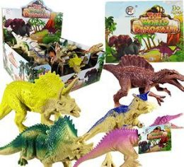72 Units of Animal World Vinyl Dinosaurs - Animals & Reptiles