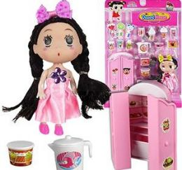 12 Units of 18 Piece Cupboard Dessert House Doll Play Sets - Dolls