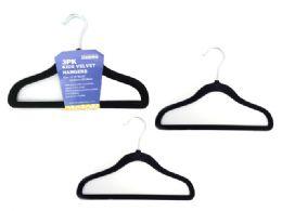 48 Units of 3 Piece Kids Velvet Hangers - Hangers