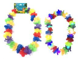 144 Units of Lei Hawaiian With Led Light - Costumes & Accessories