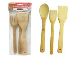 96 Units of Utensils Bamboo - Kitchen Cutlery