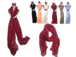 144 Units of Scarf Stitched Edge - Winter Scarves