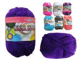 96 Units of Glitter Yarn - Sewing Supplies