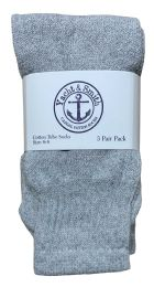 240 Units of Yacht & Smith Kids Solid Tube Socks Size 6-8 Gray Bulk Buy - Kids Socks for Homeless and Charity