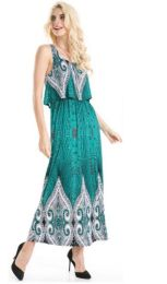 18 Units of Popover Style printed Maxi Dress - Womens Sundresses & Fashion