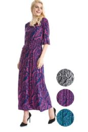 36 Units of Plus Size Maxi Dress with Ruffle Sleeve - Womens Sundresses & Fashion