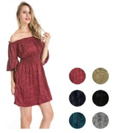 72 Units of Off the Shoulder Short Dress - Womens Sundresses & Fashion