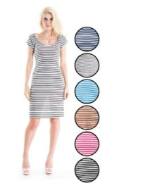72 Units of Ladies Stripe Ribs Dress medium long - Womens Sundresses & Fashion