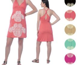 72 Units of Viscose Short Dress With Puff Prints - Womens Sundresses & Fashion