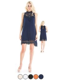 72 Units of Ladies Rayon Crepe Short Dress With Lining - Womens Sundresses & Fashion