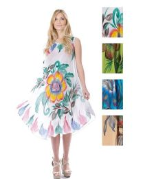 48 Units of Rayon Brush Paint Dress - Womens Sundresses & Fashion