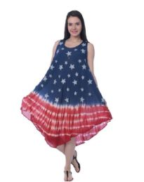 48 Units of Rayon Tie Dye Americana Pattern Dress - Womens Sundresses & Fashion