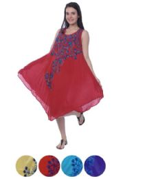24 Units of Rayon Dress with Embroidery - Womens Sundresses & Fashion
