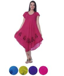 24 Units of Rayon Solid With Embroidery Dress - Womens Sundresses & Fashion