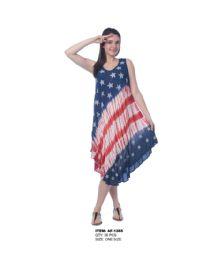 18 Units of Rayon Tie Dye Americana Pattern Dress - Womens Sundresses & Fashion