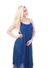 18 Units of Rayon Denim Look Dress with Tassles - Womens Sundresses & Fashion