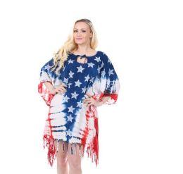 36 Units of Rayon Tie Dye Americana Pattern Dress - Womens Sundresses & Fashion