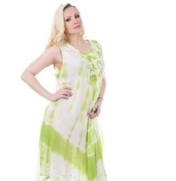 48 Units of Rayon Tie Dye Dress - Womens Sundresses & Fashion