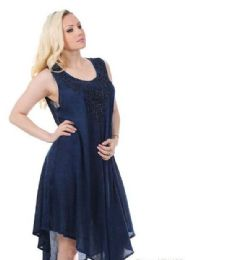 48 Units of Rayon Acid Wash Dress - Womens Sundresses & Fashion