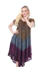 36 Units of Rayon Dress Acid Wash - Womens Sundresses & Fashion