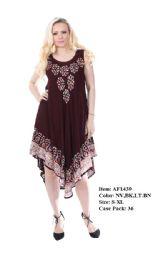 36 Units of Rayon Tie Dye Dress - Womens Sundresses & Fashion
