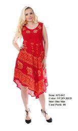 48 Units of Rayon Crepe Dress Batik Dye - Womens Sundresses & Fashion