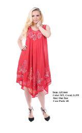 48 Units of Rayon Crepe Dress Multi Color Batik Dye - Womens Sundresses & Fashion
