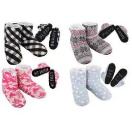 20 Units of Women's Cozy House Booties [Expressions] - Women's Slippers