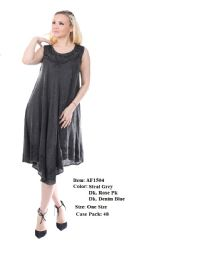 48 Units of Rayon Solid Dress - Womens Sundresses & Fashion