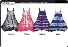 48 Units of Rayon Tie Dye Dress - Womens Sundresses & Fashion