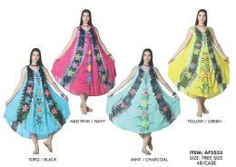 48 Units of Tie Dye Rayon Dress - Womens Sundresses & Fashion