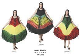 48 Units of Brush Paint Rayon Dress - Womens Sundresses & Fashion