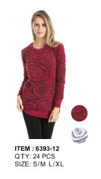 24 Units of Long Sleeve Sweater Tunic - Womens Sweaters & Cardigan