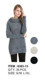 36 Units of Long Sleeve Sweater Tunic - Womens Sweaters & Cardigan